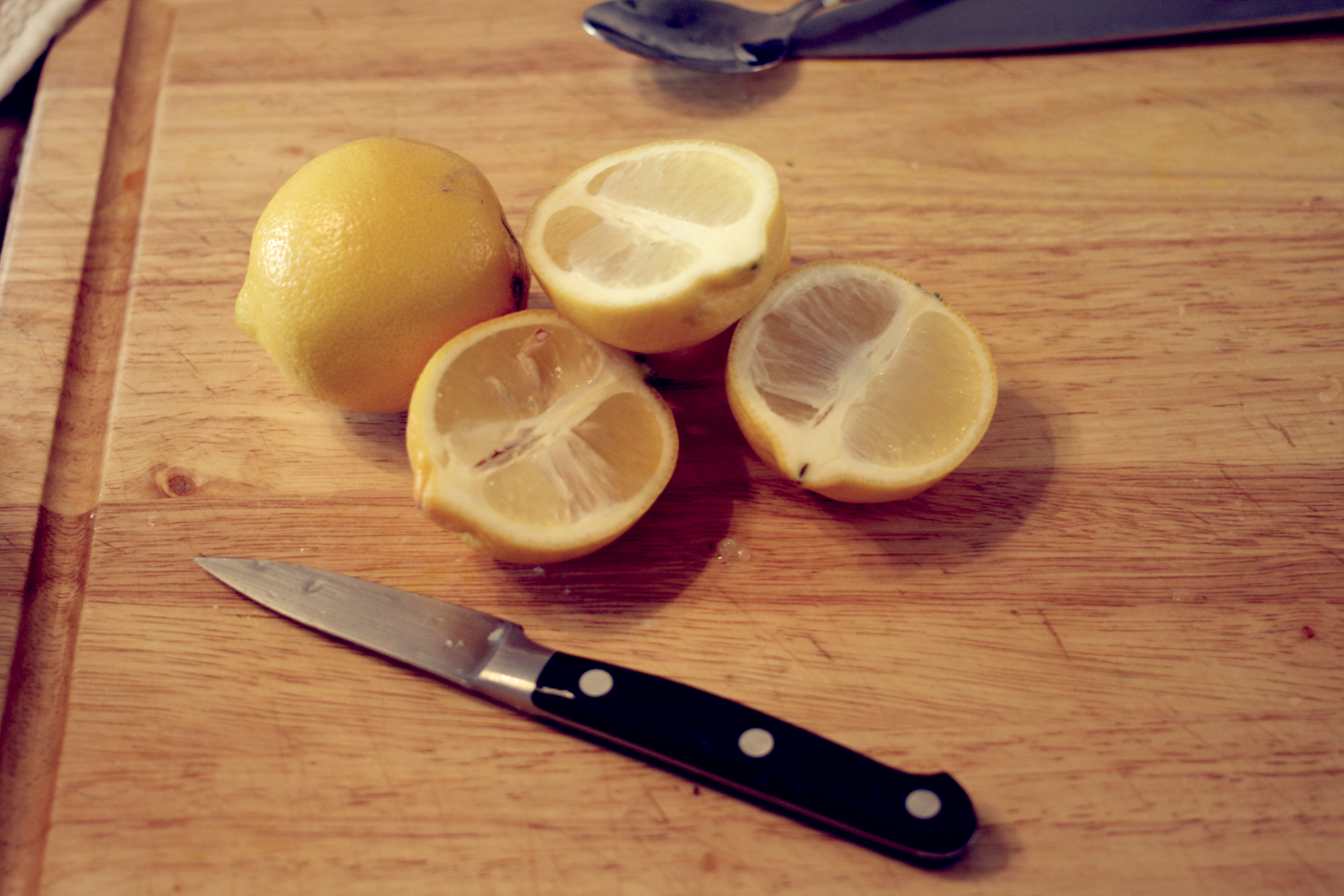 Step 1: chop the lemons